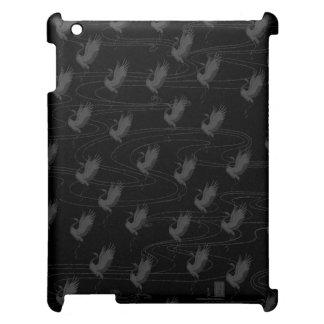 Black Dancing Cranes iPad (2/3/4) Case iPad Case