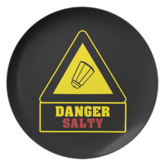 Black Danger Salty Party Plate