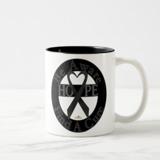 Black Dark Be Aware Design Two-Tone Coffee Mug