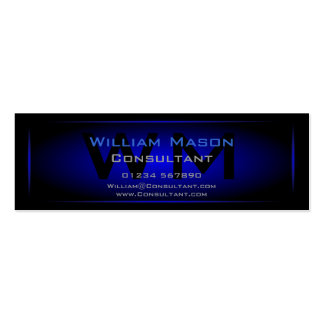 Black & Dark Blue Framed Monogram - Business Card