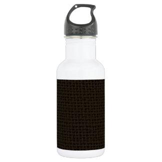 Black dark burlap jute photo realistic 18oz water bottle