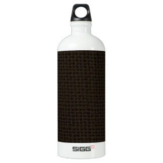 Black dark burlap jute photo realistic SIGG traveler 1.0L water bottle