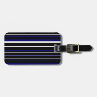 Black, Dark Navy Blue, White Barcode Stripe Tags For Luggage