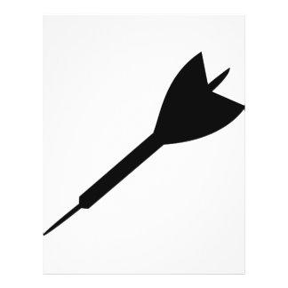 black dart icon flyer