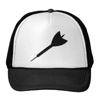 black dart icon trucker hat