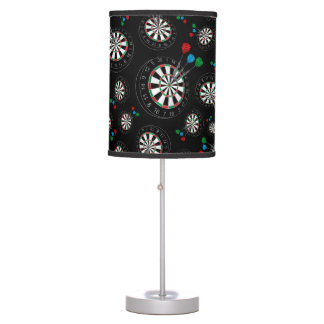 Black dartboard pattern desk lamp