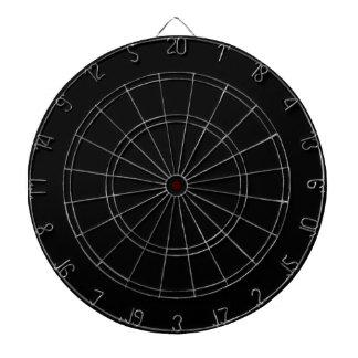 Black Dartboard with Darts