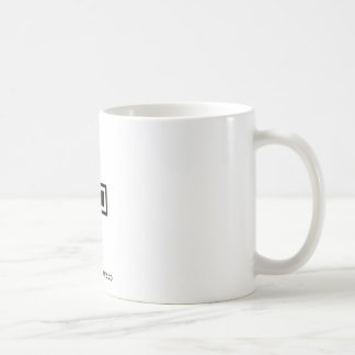 Black Dash/ Hyphen Coffee Mug