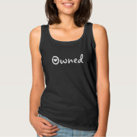Black DDLG Owned Submissive Tank Top