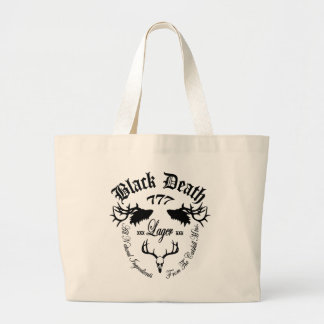 Black Death 777 - Catskill Mountain Lager Large Tote Bag