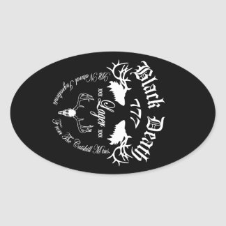 Black Death 777 - Catskill Mountain Lager Oval Sticker