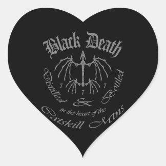 Black Death 777 - Catskill Mountains Heart Sticker