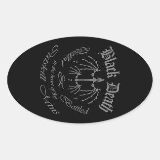 Black Death 777 - Catskill Mountains Oval Sticker