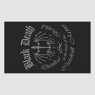 Black Death 777 - Catskill Mountains Rectangular Sticker