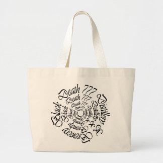 Black Death 777 - Circles Canvas Bag
