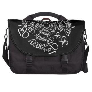 Black Death 777 - Circles Computer Bag