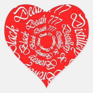 Black Death 777 - Circles Heart Sticker
