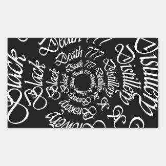 Black Death 777 - Circles Rectangular Sticker
