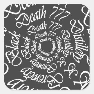 Black Death 777 - Circles Square Sticker