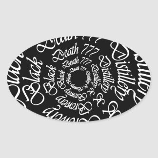 Black Death 777 - Circles Oval Sticker