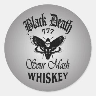 Black Death 777 - Death's Head Classic Round Sticker