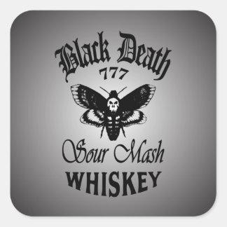 Black Death 777 - Death's Head Square Sticker