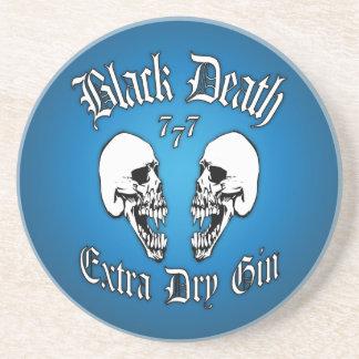 Black Death 777 - Extra Dry Gin Sandstone Coaster