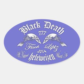 Black Death 777 - Fisch Liptz Hefeweizen Oval Sticker
