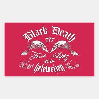 Black Death 777 - Fisch Liptz Hefeweizen Rectangular Sticker