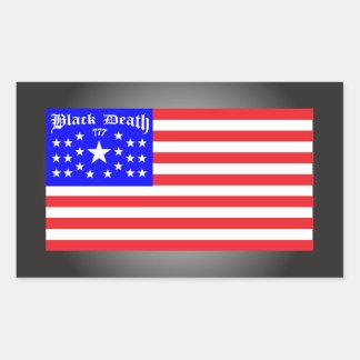 Black Death 777 - Freed Em Rectangular Sticker