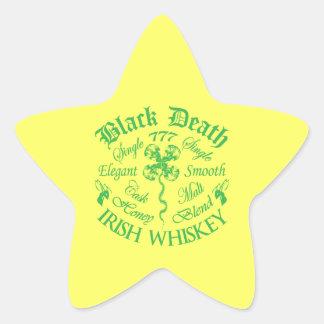 Black Death 777 - Honey Irish Whiskey Star Sticker
