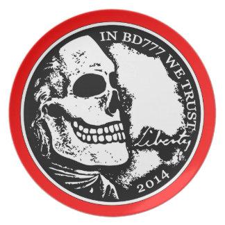 Black Death 777 - Liberty Dinner Plates