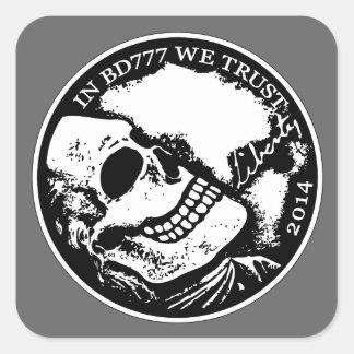 Black Death 777 - Liberty Square Sticker