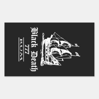 Black Death 777 - Ol Ships Rum Rectangular Sticker