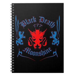 Black Death 777 - Red Louie Spiral Notebook