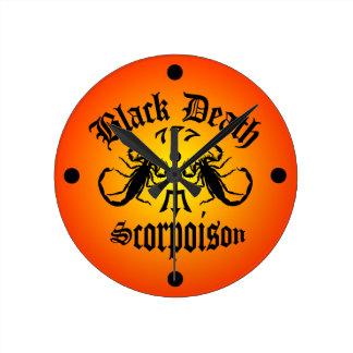 Black Death 777- Scorpoison Vodka Wallclock