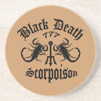Black Death 777- Scorpoison Vodka Drink Coaster