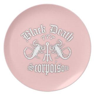 Black Death 777- Scorpoison Vodka Plates