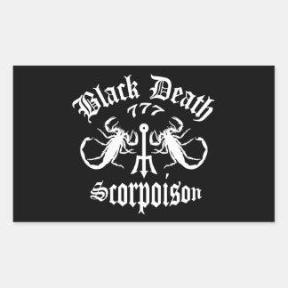 Black Death 777- Scorpoison Vodka Rectangular Sticker