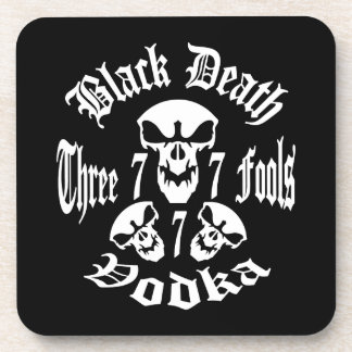 Black Death 777 - Three Fools Vodka Coaster