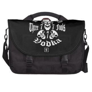 Black Death 777 - Three Fools Vodka Laptop Computer Bag