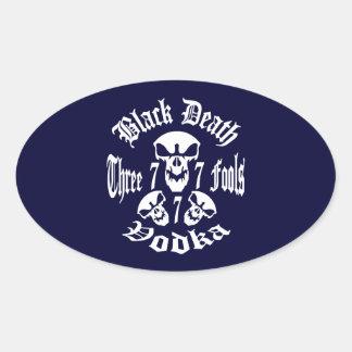 Black Death 777 - Three Fools Vodka Sticker