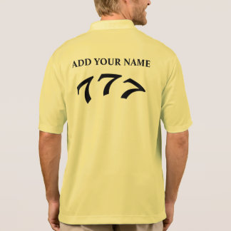 Black Death 777 - Your 777 (Add Your Name) Polo T-shirt