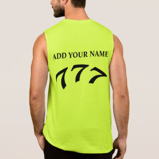 Black Death 777 - Your 777 Add Your Name Sleeveless T-shirts