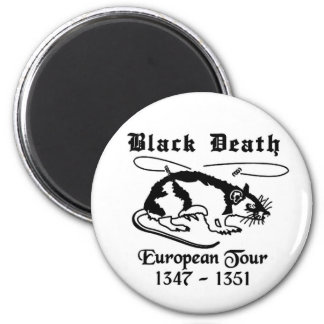 Black Death Refrigerator Magnet