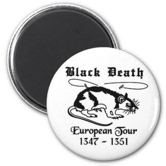 Black Death Fridge Magnet
