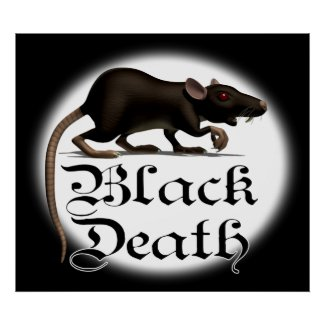 Black Death Rat Posters