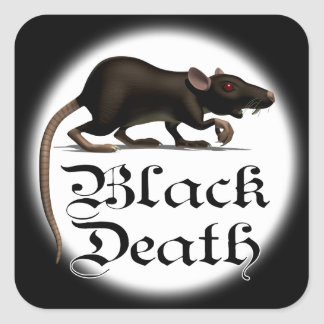 Black death Rat Stickers