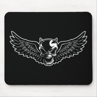 Black Death Skull Mouse Pad