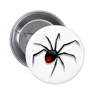 Black Death Spider Pinback Button
